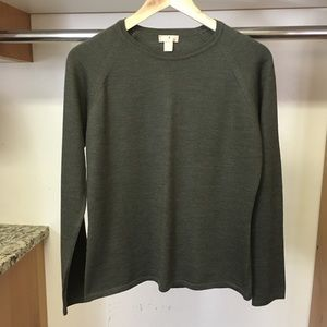 Nordstrom Studio 121 olive colored dressy sweater